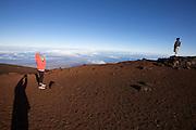 Sunrise at the top of Haleakala, Maui's giant dormant volcano.