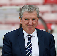 England manager Roy Hodgson prior to the International Friendly match at the Stadium Of Light, Sunderland<br /> Picture by Simon Moore/Focus Images Ltd 07807 671782<br /> 27/05/2016