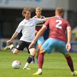 TELFORD COPYRIGHT MIKE SHERIDAN James McQuilkin of Telford during the National League North fixture between AFC Telford United and Gateshead FC at the New Bucks Head Stadium on Saturday, August 10, 2019<br /> <br /> Picture credit: Mike Sheridan<br /> <br /> MS201920-005