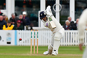 Lewis McManus of Hampshire batting during the opening day of the Specsavers County Champ Div 1 match between Somerset County Cricket Club and Hampshire County Cricket Club at the Cooper Associates County Ground, Taunton, United Kingdom on 11 May 2018. Picture by Graham Hunt.