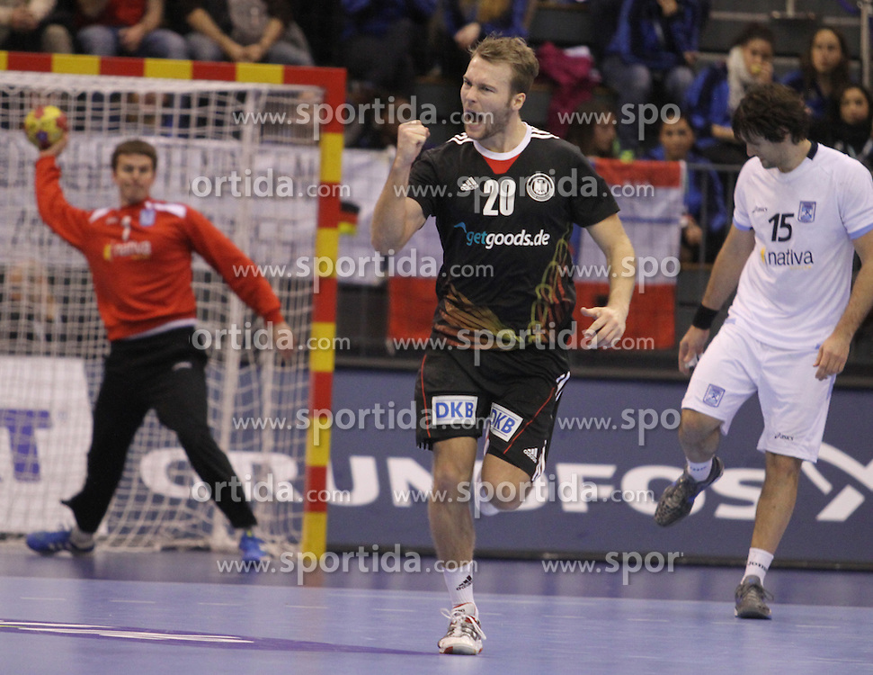 15.01.2013 Granollers, Spain. IHF men's world championship, prelimanary round. Picture show Kevin Schnidt    in action during game between Germany v Argentina at Palau d'esports de Granollers / Sportida Photo Agency