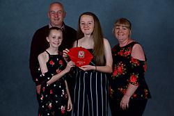 NEWPORT, WALES - Saturday, May 19, 2018: Mia Rawling and family during the Football Association of Wales Under-16's Caps Presentation at the Celtic Manor Resort. (Pic by David Rawcliffe/Propaganda)