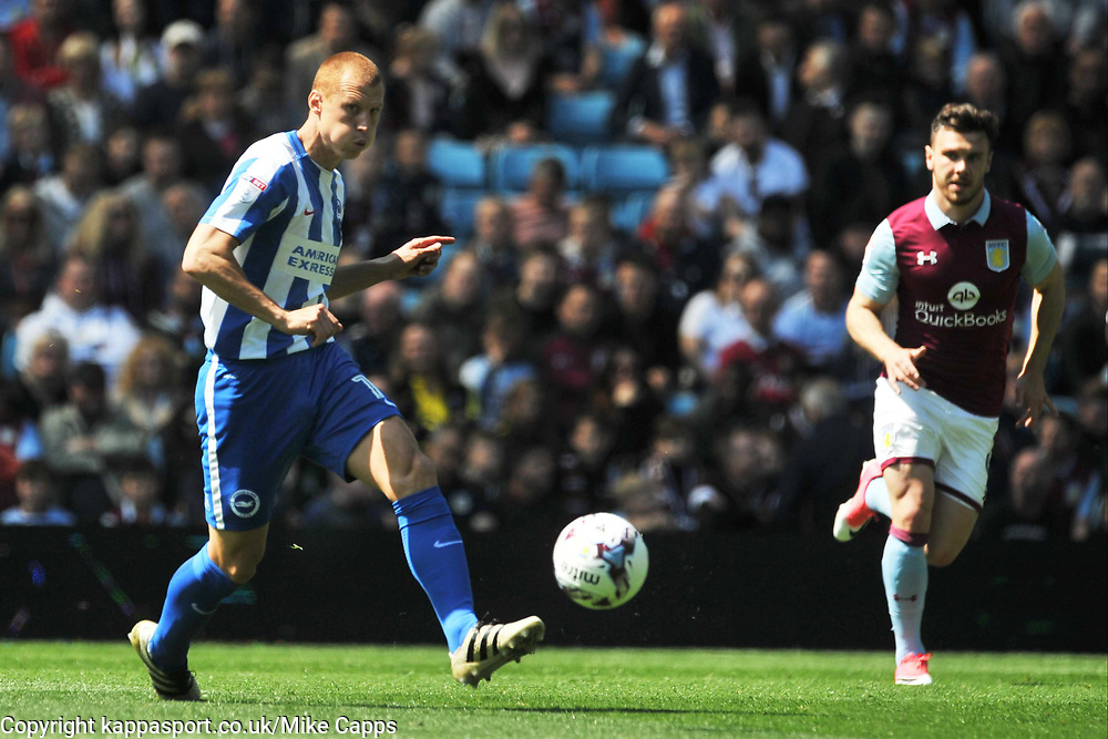 STEVE SIDWELL  BRIGHTON AND HOVE ALBION, Aston Villa v Brighton &amp; Hove Albion Sky Bet Championship Villa Park, Brighton Promoted to Premiership Sunday 7th May 2017 Score 1-1 <br /> Photo:Mike Capps