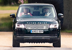© Licensed to London News Pictures. 25/07/2020. Windsor, UK. Prince Andrew, Duke of York, drives from his home in Windsor. In the week since the marriage of Princess Beatrice and Edoardo Mapelli Mozzi  the Duke of York has only been seen a few times in public. Photo credit: Peter Macdiarmid/LNP