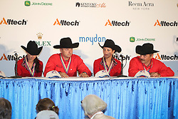Press conference team competition reining second team Belgium Boogaerts Jan - Gumpy Grumpy BB, Poels Ann - Whizdom Shines, Baeck Cira - Peek a Boom, Fonck Bernard - BA Reckless Chick<br /> Alltech FEI World Equestrian Games <br /> Lexington - Kentucky 2010<br /> © Dirk Caremans