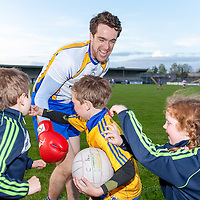 Shane Brennan playing with young Clare supporters