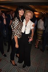 Claudia Winkleman and Mary Berry at the Fortnum & Mason Food and Drink Awards, Fortnum & Mason Food and Drink Awards, London, England. 10 May 2018.