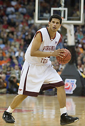 Virginia Tech Hokies forward A.D. Vasallo (40) in action against Illinois.  The #5 seed Virginia Tech Hokies defeated the #12 seed Illinois Illini 54-52 in the first round of the Men's NCAA Tournament in Columbus, OH on March 16, 2007.