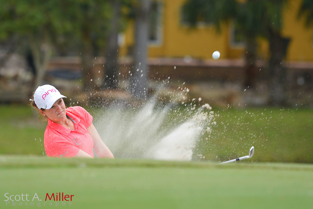 Ally McDonald during the third round of the Symetra Tour Championship at Alaqua Country Club in Longwood, Florida on Oct. 15, 2016 .<br /> <br /> &copy;2016 Scott A. Miller