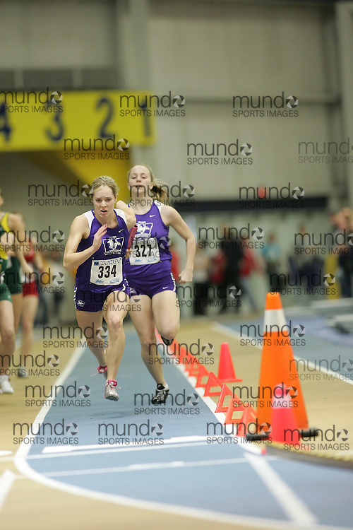 (Windsor, Ontario---12 March 2010) Jen Perrault of University of Western Ontario Mustangs   competes in the  at the 2010 Canadian Interuniversity Sport Track and Field Championships at the St. Denis Center. Photograph copyright Sean Burges/Mundo Sport Images. www.mundosportimages.com