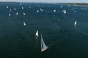 Wild Horses sailing in the Panerai Newport Classic Yacht Regatta, day one.