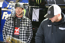 October 19, 2018 - Kansas City, Kansas, United States of America - Kurt Busch (41) hangs out in the garage during practice for the Hollywood Casino 400 at Kansas Speedway in Kansas City, Kansas. (Credit Image: © Justin R. Noe Asp Inc/ASP via ZUMA Wire)