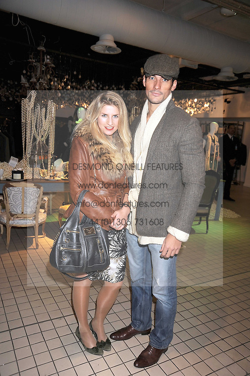 VICTORIA MILLINGTON and DAVID GANDY at a party to celebrate the 2nd issue of Distill Magazine held at The Shop at Bluebrid, Kings Road, London on 1st December 2008.
