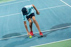 during mens final of Zavarovalnica Sava tournament at ATP Challenger Zavarovalnica Sava Slovenia Open 2019, day 2, on August 10th 2019 in Sports centre, Portoroz/Portorose, Slovenia. Photo by Grega Valancic / Sportida