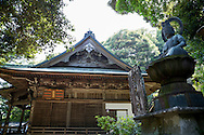 The first temple Ryōzen-ji (霊山寺) of the Shikoku Pilgrimage, 88 temples associated with the Buddhist monk Kūkai (Kōbō Daishi) on the island of Shikoku, Naruto,	Tokushima Prefecture, Japan