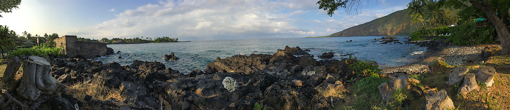 Panoramic Beach photography taken in Hawaii