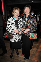 Left to right, DAME ANTONIA FRASER and LADY RACHEL BILLINGTON at the annual Orion Publishing Group's Author party held in the Paul Hamlyn Hall, The Royal Opera House, Covent Garden, London on 15th February 2011.