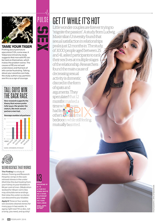 Interesting stats on ‪‎passion‬ in ‪‎relationships‬ in the February edition of Men's Health Magazine Australia.<br />