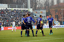 "Foto Filippo Rubin<br /> 06/01/2018 Ferrara (Italia)<br /> Sport Calcio<br /> Spal - Lazio - Campionato di calcio Serie A 2017/2018 - Stadio ""Paolo Mazza""<br /> Nella foto: LA LAZIO ESULTA<br /> <br /> Photo by Filippo Rubin<br /> January 06, 2018 Ferrara (Italy)<br /> Sport Soccer<br /> Spal vs Lazio - Italian Football Championship League A 2017/2018 - ""Paolo Mazza"" Stadium <br /> In the pic: LAZIO CELEBRATE"