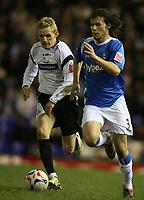 Photo: Rich Eaton.<br /> <br /> Birmingham City v Derby County. Coca Cola Championship. 09/03/2007. Mat Sadler ight of Birmingham City and Gary Teale of Derby