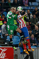 17.01.2013 SPAIN - Copa del Rey Matchday 1/2th  match played between Atletico de Madrid vs Real Betis Balompie (2-0) at Vicente Calderon stadium. The picture show Roque Santa Cruz