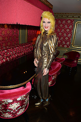 PAM HOGG at a party to celebrate Pam Hogg receiving an honorary Doctorate from Glasgow University held at Park Chinois, 17 Berkeley Street, London on 11th July 2016.