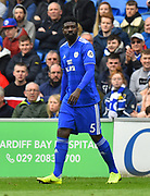 Bruno Ecuele Manga (5) of Cardiff City during the Premier League match between Cardiff City and Chelsea at the Cardiff City Stadium, Cardiff, Wales on 31 March 2019.