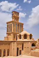 Iran, province de Yazd, Abarkuh, la tour de vent, Badgir, de la maison d'Aghazadeh // Iran, Yazd province, Abarkuh, Aghazadeh, traditional house with the badgir or wwindtowers