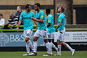 Forest Green Rovers Carl Winchester(7) scores a goal 1-0 and celebrates during the EFL Sky Bet League 2 match between Forest Green Rovers and Port Vale at the New Lawn, Forest Green, United Kingdom on 8 September 2018.