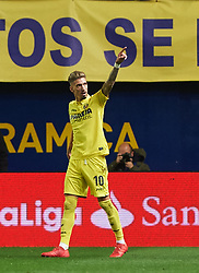 January 27, 2018 - Vila-Real, Castellon, Spain - Samu Castillejo of Villarreal CF celebrates a goal during the La Liga match between Villarreal CF and Levante Union Deportiva, at Estadio de la Ceramica, on January 26, 2018 in Vila-real, Spain  (Credit Image: © Maria Jose Segovia/NurPhoto via ZUMA Press)