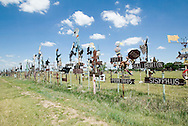 Making statements through metal art along U.S. Highway 166 in rural Kansas