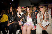BLAKE WOOD; PEACHES GELDOF; ELIZABETH JAGGER ' Colour Me Happy' House of Holland fashion show , Quaglinos. Bury St. London. 24 February 2009.