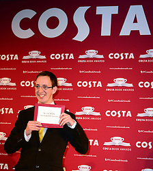 Nathan Filer wins Costa Book of the Year 2013 with his book The Shock of the Fall at annual Costa Book Of The Year Award 2013 at Quaglino's, 16 Bury Street, London, United Kingdom. Tuesday, 28th January 2014. Picture by Nils Jorgensen / i-Images