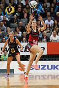 Tactix goal attack Brooke Leaver during the ANZ Premiership netball match - Magic v 170529 ANZ Premiership - Magic v Tactix played at Claudelands Arena, Hamilton, New Zealand on Monday 29 May 2017. Copyright photo: Bruce Lim / www.photosport.nz