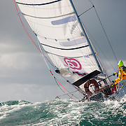 Mini transat 2013 entre Dournenez, Lanzarote et le Guadeloupe: le depart de Douarnenez