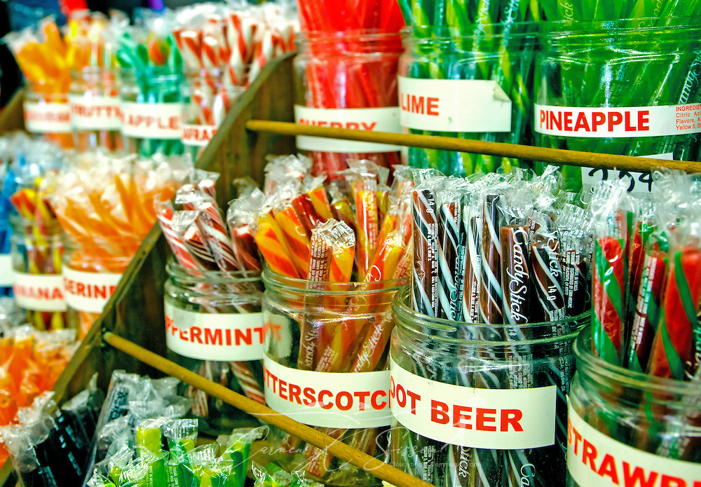 Turnage Drug Store in Water Valley, Mississippi sells a variety of hard-to-find items, including old-fashioned candy sticks. (Photo by Carmen K. Sisson/Cloudybright)