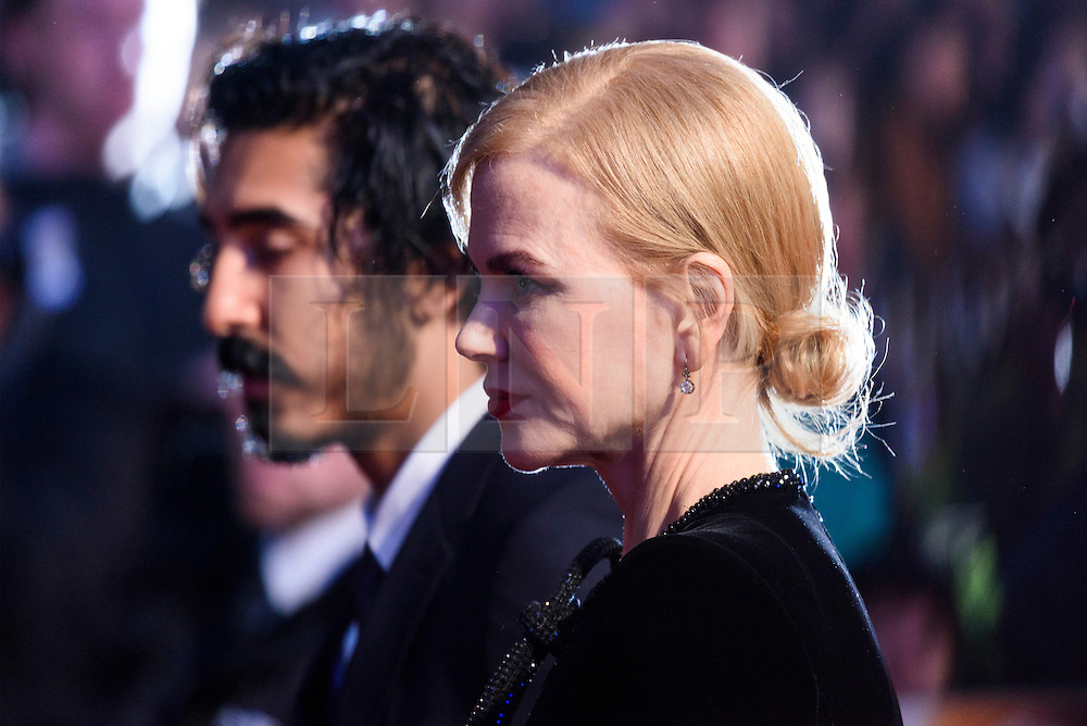 © Licensed to London News Pictures. 12/10/2016. Actor DEV PATEL and actress NICOLE KIDMAN attend the film premiere of LION as part of The London Film FestivalLondon, UK. Photo credit: Ray Tang/LNP