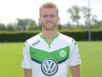 German Soccer Bundesliga 2015/16 - Photocall of VfL Wolfsburg on 16 July 2015 at the Volkswagen-Arena in Wolfsburg, Germany: Andre Schuerrle