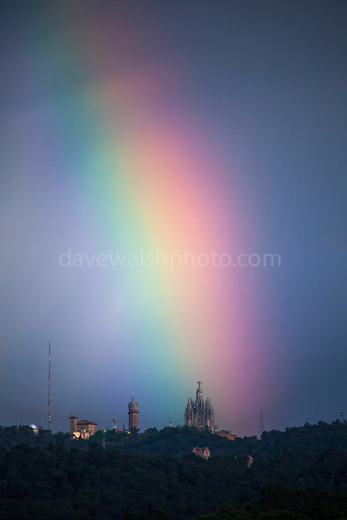 "Rainbow over the Basilica at Tibidabo, Barcelona This mage can be licensed via Millennium Images. Contact me for more details, or email mail@milim.com For prints, contact me, or click ""add to cart"" to some standard print options."