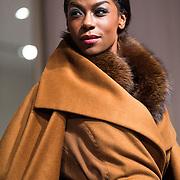 NLD/Amsterdam/20130907 - Modeshow najaar Mart Visser 2013, mannequin Giovanca Desire Ostiana