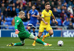 Matt Taylor of Bristol Rovers goes past Connor Ripley of Oldham Athletic - Mandatory by-line: Robbie Stephenson/JMP - 22/10/2016 - FOOTBALL - Sportsdirect.com Park - Oldham, England - Oldham Athletic v Bristol Rovers - Sky Bet League One