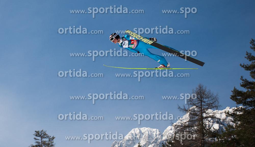 23.03.2013, Planica, Kranjska Gora, SLO, FIS Ski Sprung Weltcup, Skifliegen, Team, Probedurchgang, im Bild Rune Velta (NOR) // Rune Velta of Norway during his trial jump of the FIS Skijumping Worldcup Team Flying Hill, Planica, Kranjska Gora, Slovenia on 2013/03/23. EXPA Pictures © 2012, PhotoCredit: EXPA/ Juergen Feichter
