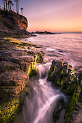 Crescent Bay at Sunset in Laguna Beach