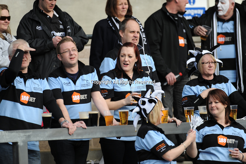 20.03.2011 LV Cup Final Gloucester v Newcastle Franklin Gardens Northampton 20th March 2011. Newcastle fans enjoy pre match drinks