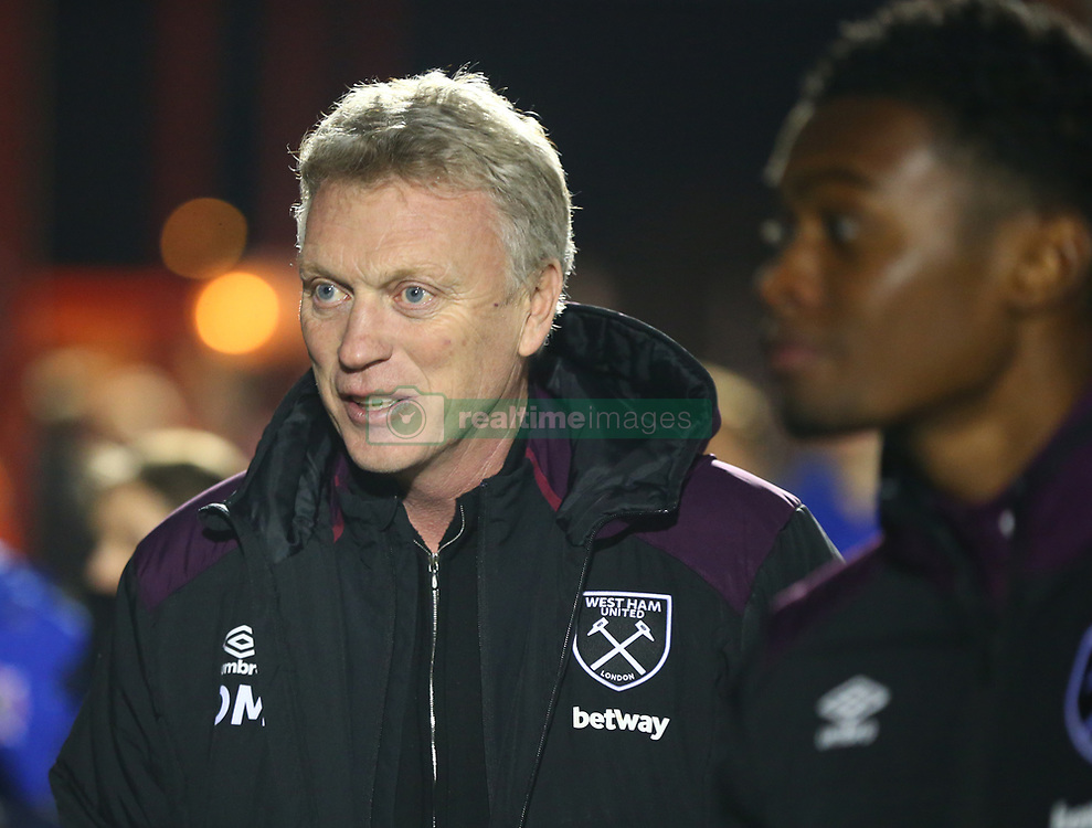 March 21, 2018 - Dagenham, England, United Kingdom - West Ham United manager David Moyes .during Friendly match between Dagenham and Redbridge against West Ham United at Chigwell Construction  stadium, Dagenham England on 21 March 2018. (Credit Image: © Kieran Galvin/NurPhoto via ZUMA Press)