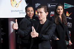 """03.12.2015, Callao Cinema, Madrid, ESP, Premiere, In the Heart of the Sea, im Bild British actor Tom Holland // during the Madrid Premiere of the movie """" In the Heart of the Sea"""" at the Callao Cinema in Madrid, Spain on 2015/12/03. EXPA Pictures © 2015, PhotoCredit: EXPA/ Alterphotos/ Victor Blanco<br /> <br /> *****ATTENTION - OUT of ESP, SUI*****"""