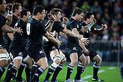 All Black haka - New Zealand All Blacks v Ireland rugby International Test at Yarrow Stadium in New Plymouth, New Zealand. Saturday 12 June 2010.