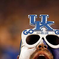 Sept. 11, 2010 - Lexington, Kentucky, USA -  A UK fan screamed for his team as the University of Kentucky played Western Kentucky University at Commonwealth Stadium.  Kentucky won the game, 63-28. (Credit image: © David Stephenson/ZUMA Press)