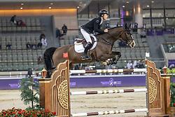 BRASH Scott (GBR), Hello Shelby<br /> Doha - CHI Al SHAQAB 2020<br /> - Stechen -<br /> Int. jumping competition with jump-off (1.55/1.60 m) - CSI5* <br /> 28. Februar 2020<br /> © www.sportfotos-lafrentz.de/Stefan Lafrentz