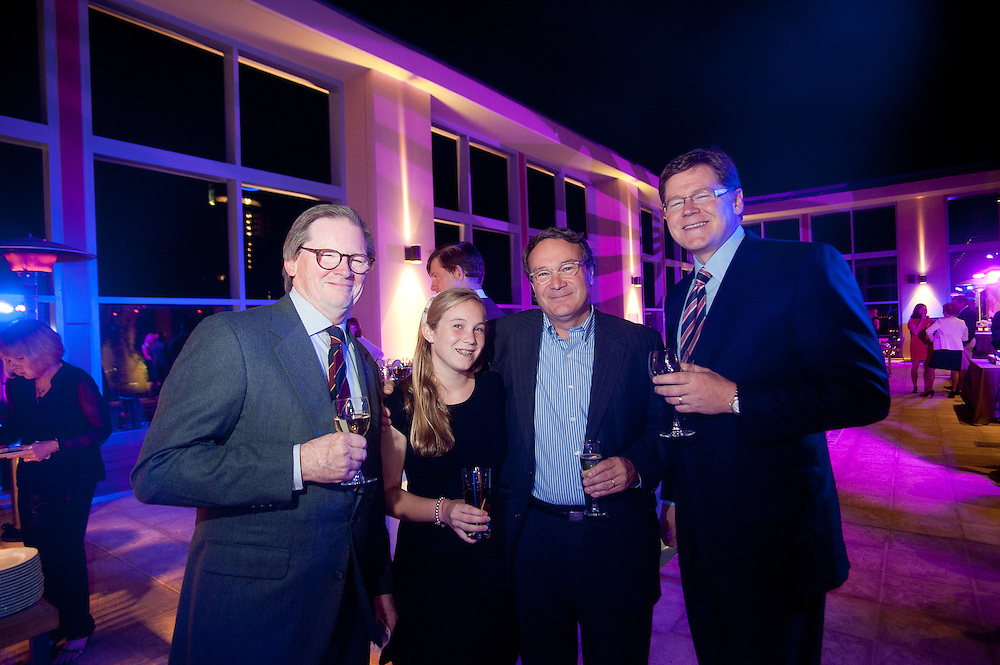 The Four Seasons Residences Austin hosted a party Friday night for current, future and prospective residents. In attendance were (L-R) Steve Clark, Isabelle Carpenter, Art Carpenter and Dave Stockert.